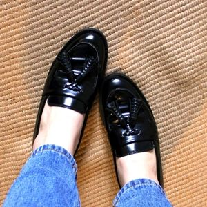 Luscious Patent Leather Tassle Loafers